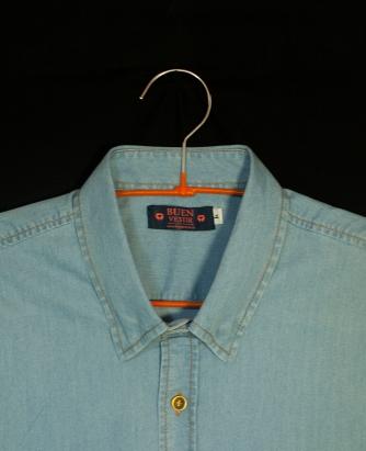 Camisa masculina. Cuello